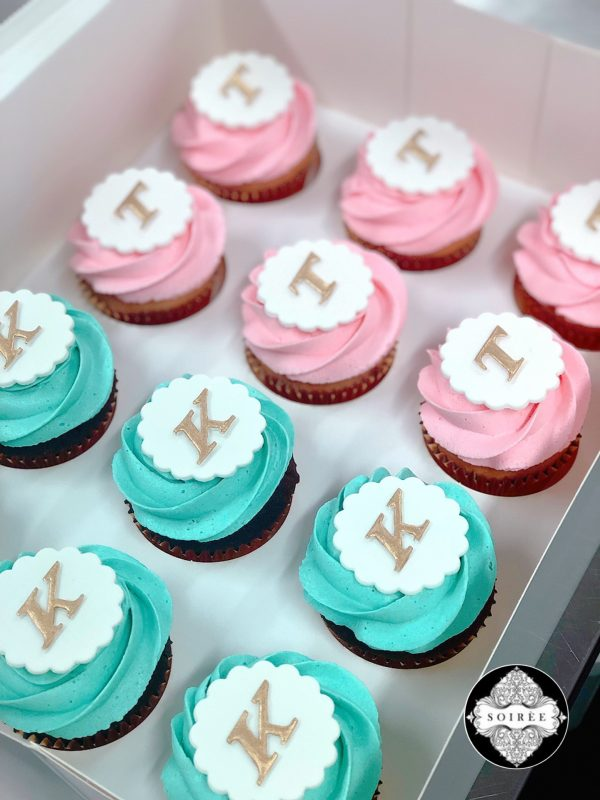 Initial Letter Cupcakes