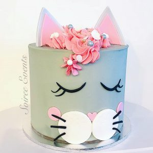 Kitty Cat Buttercream Cake