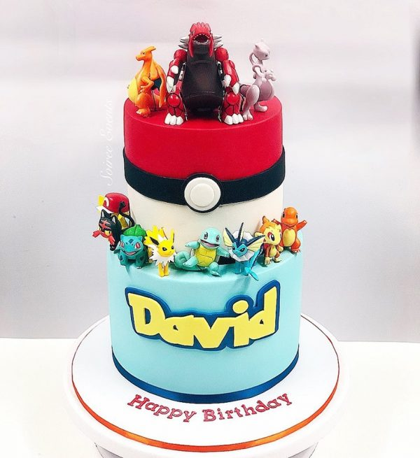 2 tier pokemon cake