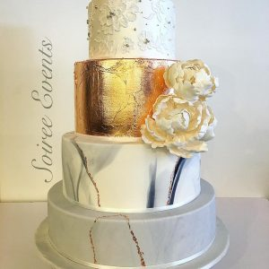 Marble and Goldleaf Cake