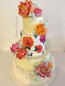 Orange Hand Painted Cake