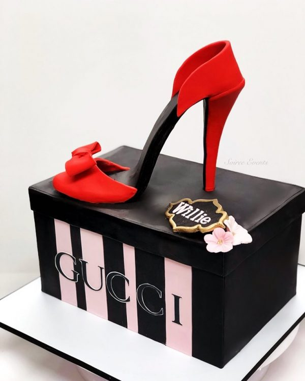 gucci shoe box and heel cake