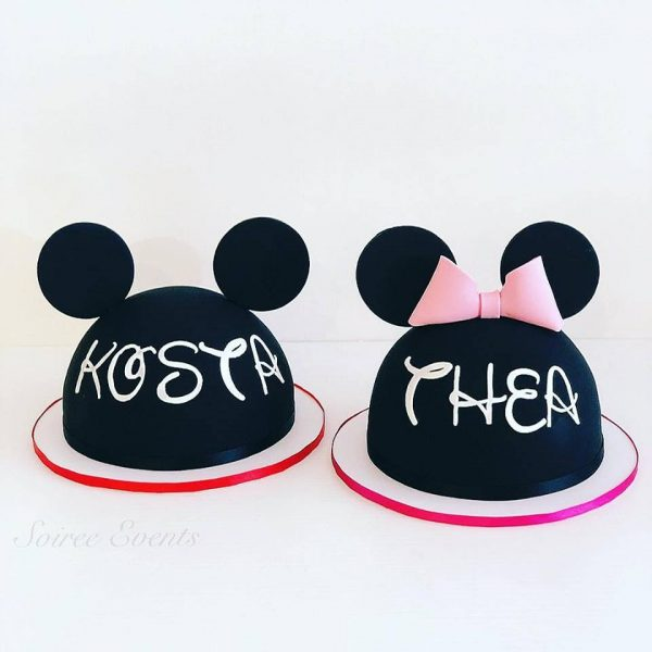 minnie mouse and mickey mouse ears cake