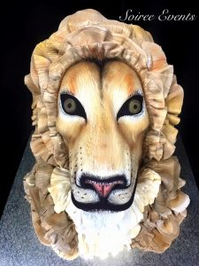 3d Hand painted lion head cake