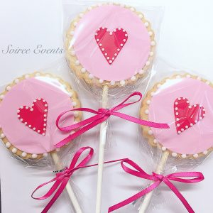love heart cookie pop