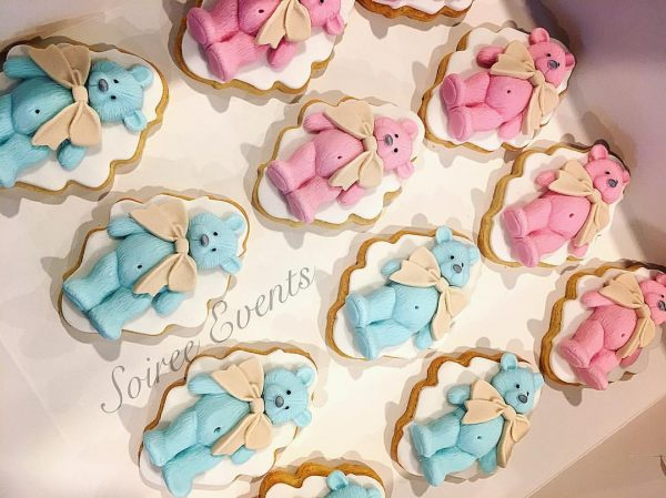 baby shower cookies teddy bear