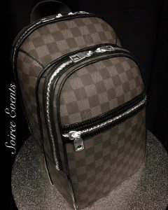 louis vuitton backpack cake