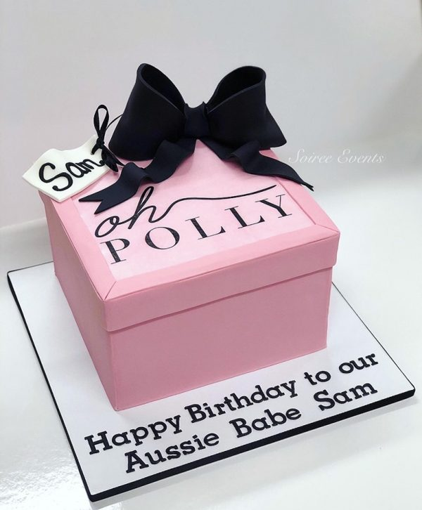 oh polly present box cake 1