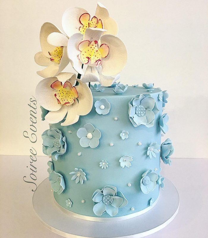 Orchid Sugarflower Cake